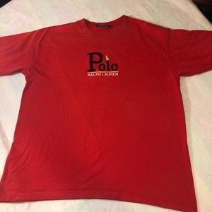 Ralph Lauren polo red  t-shirt embroidered